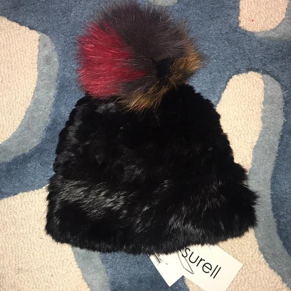 27d5ec31797 NWT Surell Fur Beanie Hat
